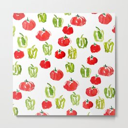 Summer tomatoes and peppers Metal Print