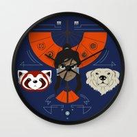 avatar Wall Clocks featuring Spirited Avatar by Ashley Hay
