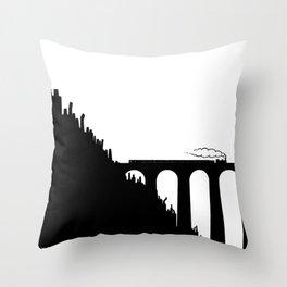 Urban Train Throw Pillow