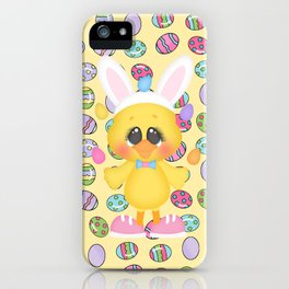 Easter Chick with Bunny Ears iPhone Case