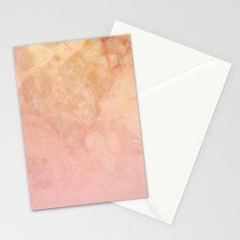 Marbled gold stone with a blush ombre shade decorative design Stationery Cards