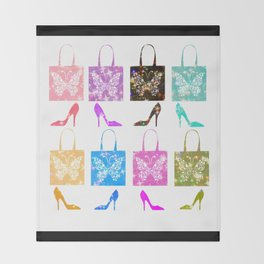 Shoes and Purses Throw Blanket