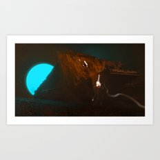 Rustlight Outpost Art Print
