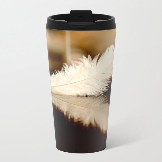 Feather Reflection Metal Travel Mug