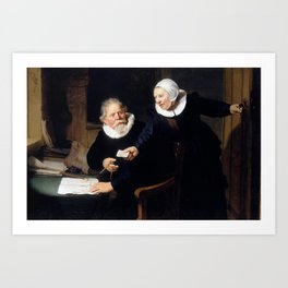 The Shipbuilder and his Wife - Rembrandt  Art Print