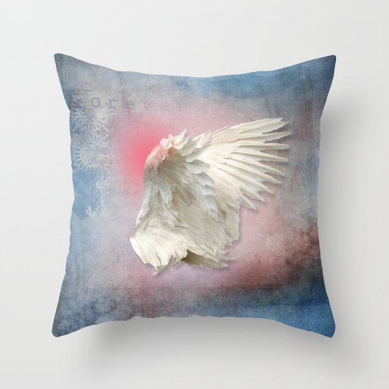 Lost Angel Wing Throw Pillow