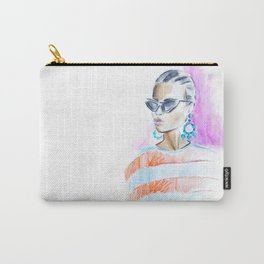 Watercolor girl Carry-All Pouch