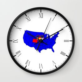 State of Colorado Wall Clock
