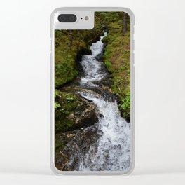 Shot on a Waterfall Clear iPhone Case