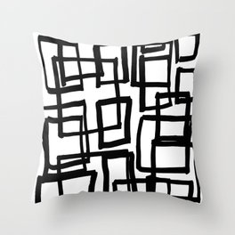 all boxed up Throw Pillow