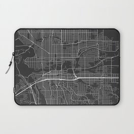 Spokane Map, USA - Gray Laptop Sleeve