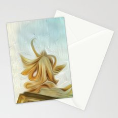 golden hair Stationery Cards