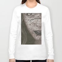 no face Long Sleeve T-shirts featuring Face  by Kate Allison