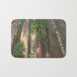 STOUT GROVE REDWOODS 4 LOOKING UP INTO THE TREES Bath Mat