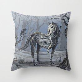 Helhest Three Legged Horse Throw Pillow