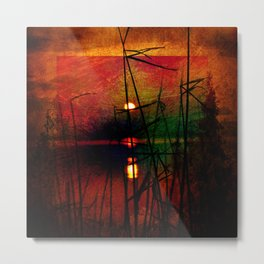 tramonto astratto Metal Print