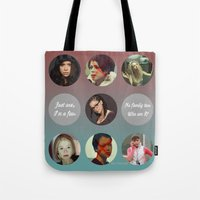 orphan black Tote Bags featuring Orphan Black, Family by Your Friend Elle