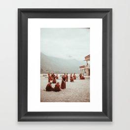 Tibetan Monks Framed Art Print