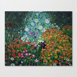 Flower Garden Riot of Colors by Gustav Klimt Canvas Print