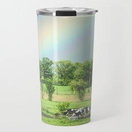 Cows and a Rainbow Travel Mug