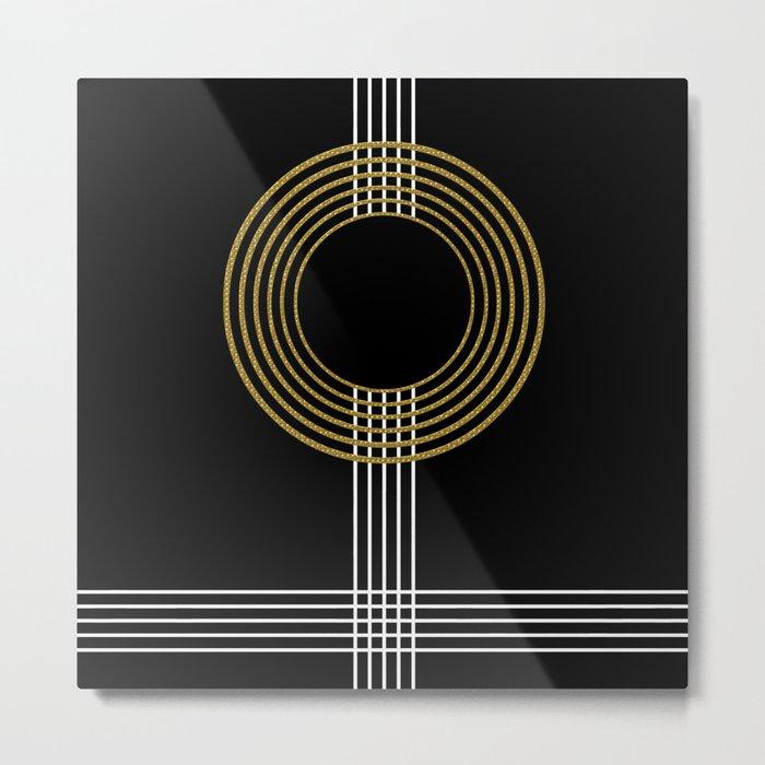 GUITAR IN ABSTRACT (geometric art deco) Metal Print