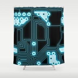 Circuit Pattern Shower Curtain