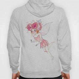 Cute watercolor Fairy in pink Hoody