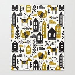 Yultide Nordic Christmas Canvas Print