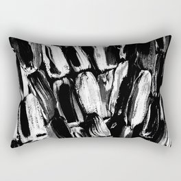 Silver Sugarcane Black and White Rectangular Pillow