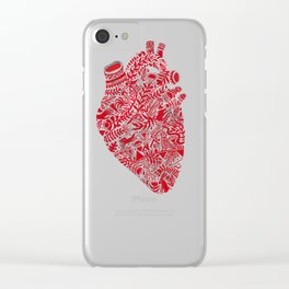 Lonely hearts Clear iPhone Case