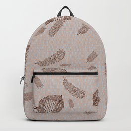Primitive Henna Birds and Feathers Tiny Geometric Tile Backpack