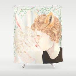 Mr Fox and Miss Rabbit Shower Curtain