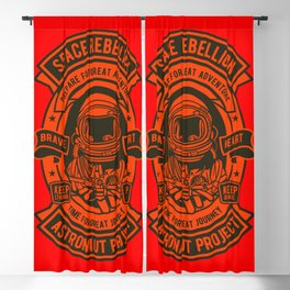 Space Badge Blackout Curtain