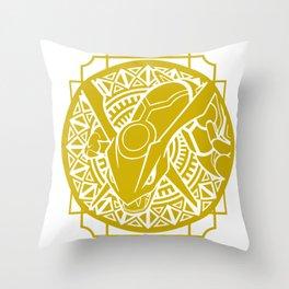 Stained Glass - Pokémon - Rayquaza Throw Pillow
