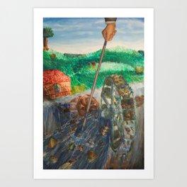 Greedy Art Print