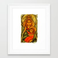 madonna Framed Art Prints featuring Madonna by Guna Andersone & Mario Raats - G&M Studi