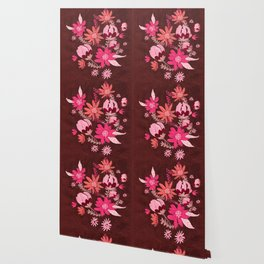 Cranberry Harvest Blooms Wallpaper