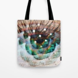 Green Eyed Beauty Tote Bag