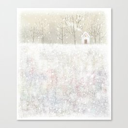 little house in the snow Canvas Print
