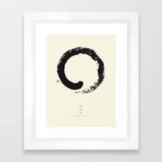 Enso / Japanese Zen Circle Framed Art Print