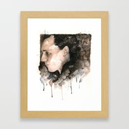 My emotional outlet is consuming the better part of me... Framed Art Print