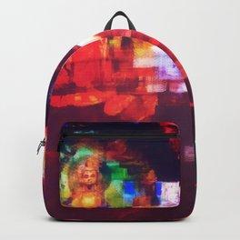 Contemporary Abstract Buddha Meditation Art Backpack