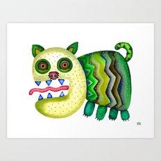 Screaming Kitty Art Print