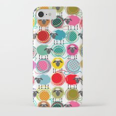 Bright Sheep and Yarn Pattern iPhone 7 Slim Case