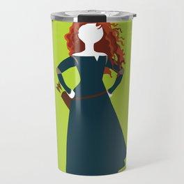 Merida from the Brave Travel Mug