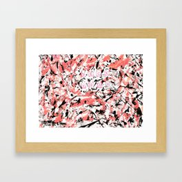 graffiti pink Framed Art Print