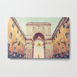 Arco da Rua Augusta, Lisbon Fine Art Print Metal Print