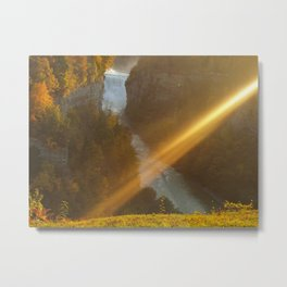 Letchworth State Park-View of the Falls Metal Print