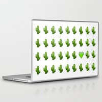 emoji Laptop & iPad Skins featuring Cacti Emoji Love by Gretchen M.