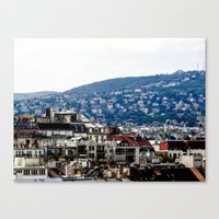 budapest Canvas Prints featuring Budapest by Petra Horvath